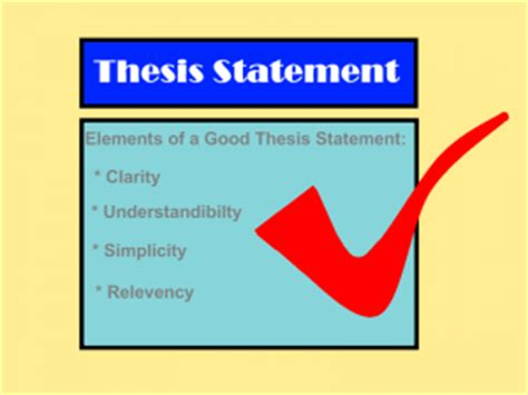 Sample of essay thesis statement topic sentence